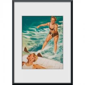 Wasserskifahrerin